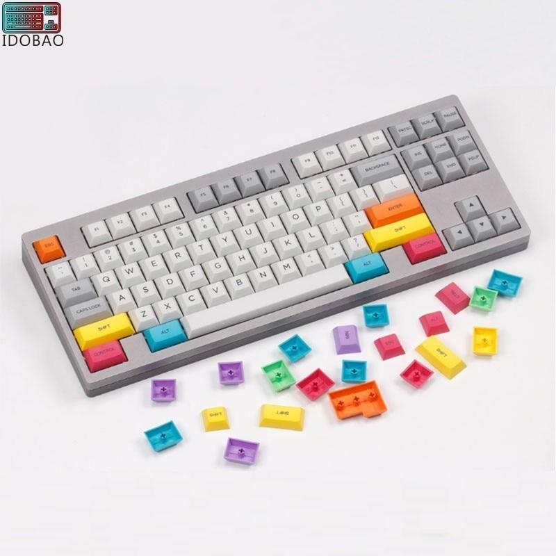 2019 DSA OME Cherry Profile CMYK Color Keycaps 30-key Position Supplementary Key Mechanical Keyboard Custom Pbt Top Printing Lol