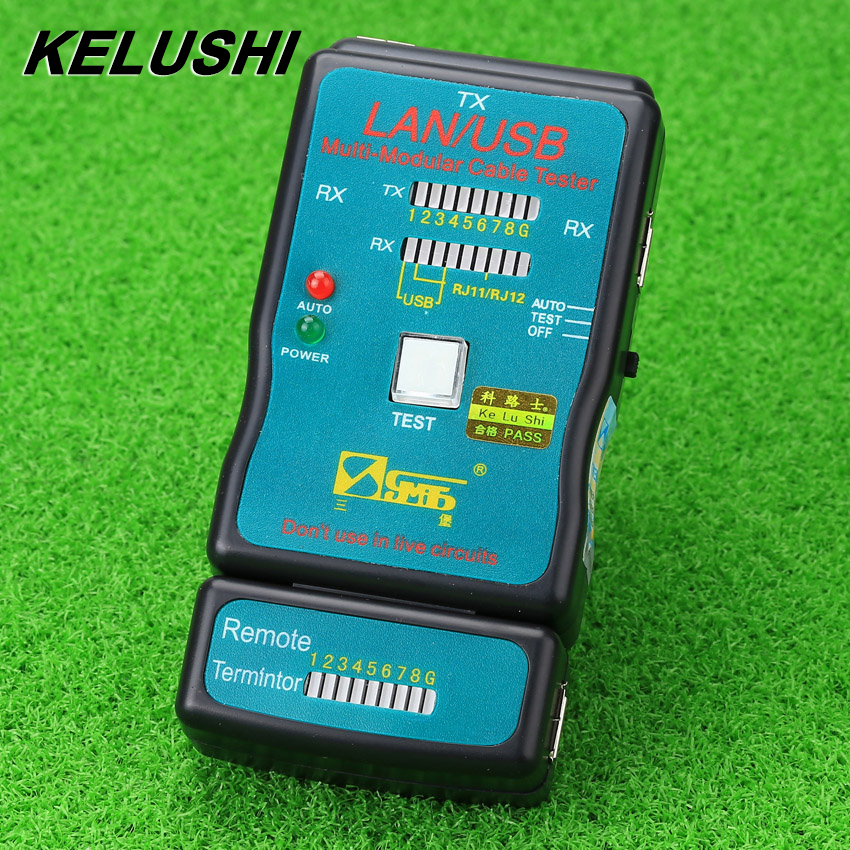 KELUSHI 2018 Multifunctional Instrument Measuring Line CT-168 usb Ethernet Cable Telephone Cord Tester Battery title=
