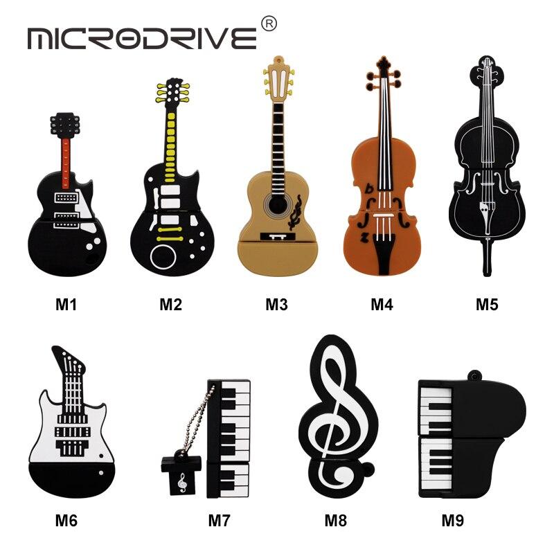 Computer & Office Jaster Hot Selling Usb Creative Cartoon Musical Instrument Guitar Violin Series Usb Flash Drive 2.0 4gb 8gb 16gb 32gb 64gb