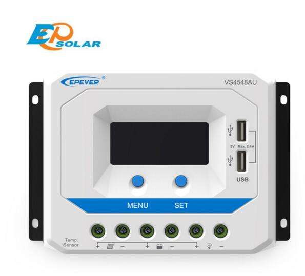 EPSOLAR VS4548AU 45A 12V 24V 36V 48V EP EPEVER New Viewstar Solar Charge controller LCD display pwm new viewstar series solar battery charge controller vs4548bn 45a 45amp epever epsolar 12v 24v 36v 48v auto work
