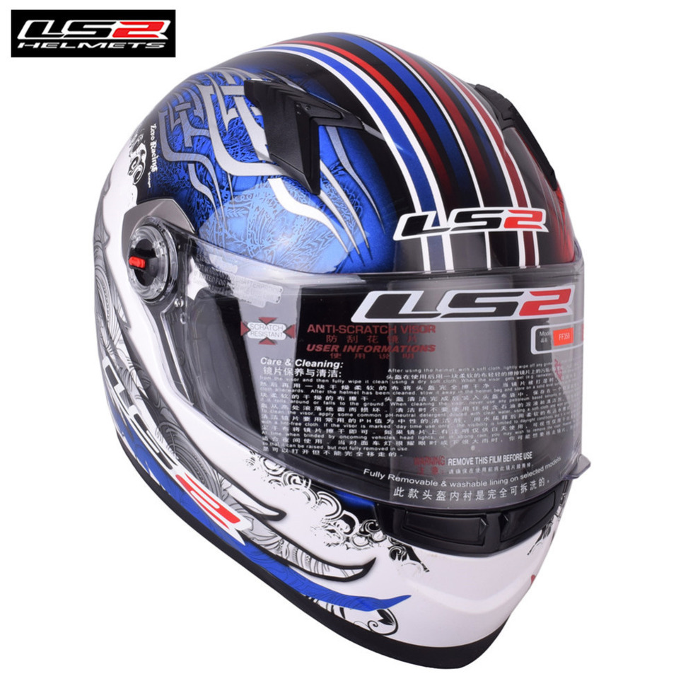 LS2 Full Face LS2 Motorcycle Helmet Racing Capacete Casco Casque Moto Helmets Kask Helm Kaski Motocyklowe For Suzuki Bike Helmet