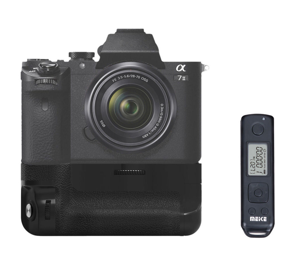Meike MK-A7II 2.4g Wireless Control Battery Grip for Sony A7II A7R II as VG-C2EM neewer meike battery grip for sony a6300 camera built in 2 4ghz remote control work with 1 or 2 np fw50 battery