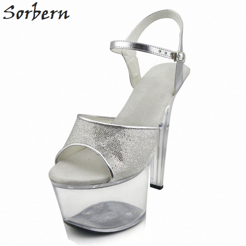 где купить Sorbern 17CM Women Sandals Shoes Plus Size Chinese Size 35-46 Buckle Straps Platform Sandals Summer Shoes Women Sandals 2018 по лучшей цене