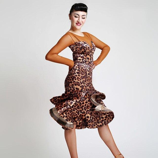 leopard latin dance costumes for women latino dress dance latin rumba dance  dresses fringe dance costumes women latin dress c72f94342