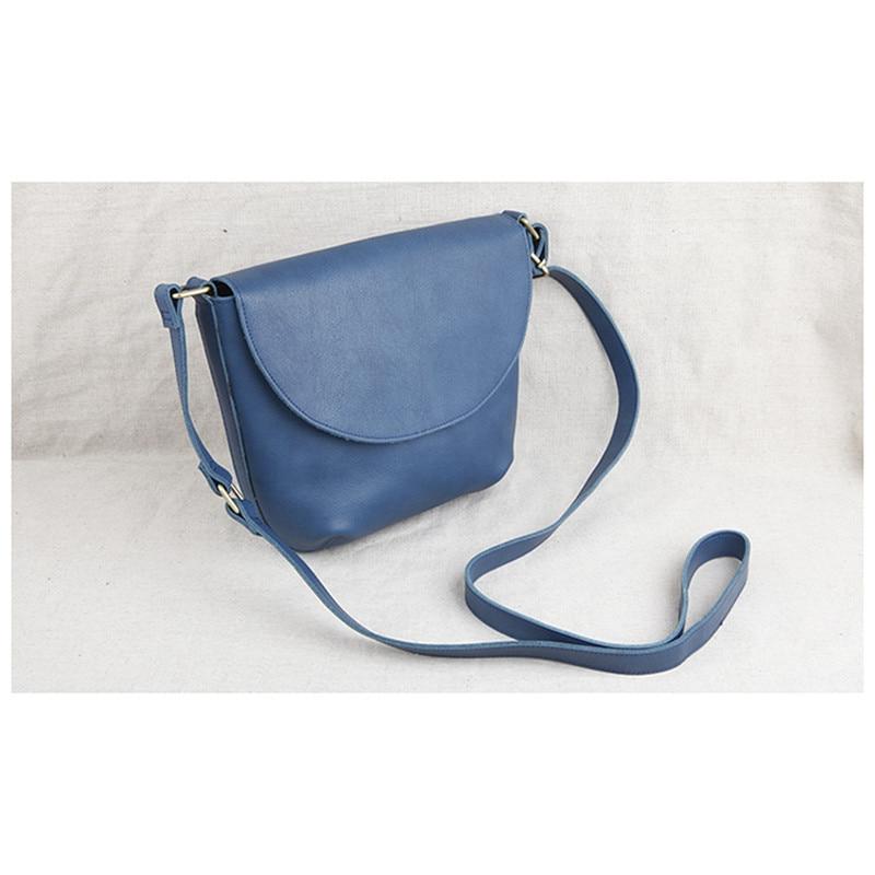 En Main Femmes Facteur Cuir Bag Noir Épaule 2018 Mode Messenger Petit bleu vert Sac Femme Littéraire Rétro Sacs De marron Simple Carré EDHWIY9e2