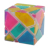 Transparente 3x3 Cubo Mágico Velocidade Cubo Fantasma Corpo Claro com Claras Adesivos Coloridos