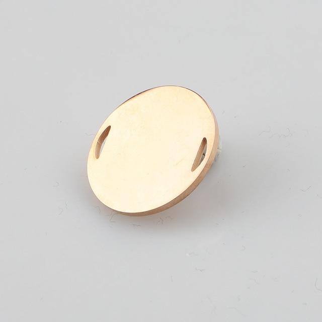 Fnixtar miroir poli en acier inoxydable pendentifs ronds DY estampage ébauches bijoux de charme 20mm 20 pièce/lot