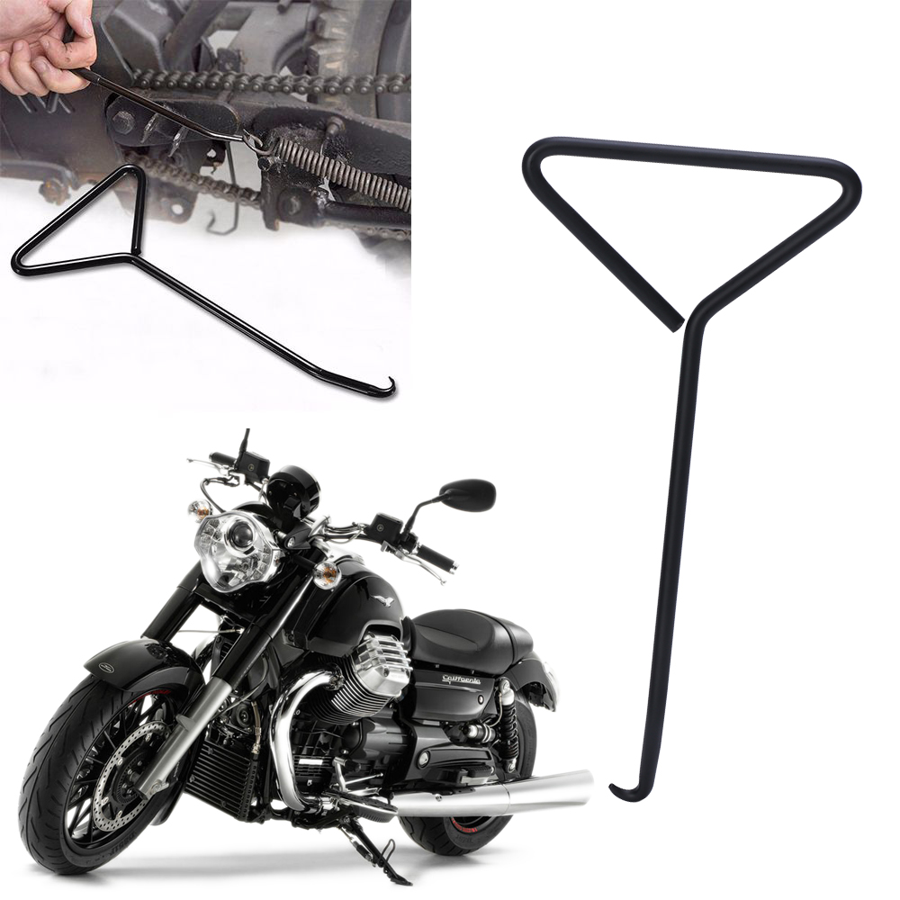 Motorcycle Bicycle T-Handle Spring Hook Exhaust Stand Puller Stainless Steel Tools Motorcycle Accessories & Parts steering wheel phone holder
