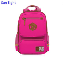 Sun Eight high quality hot pink school bags for girls women backpack waterproof girl schoolbag children backpacks dropshipping