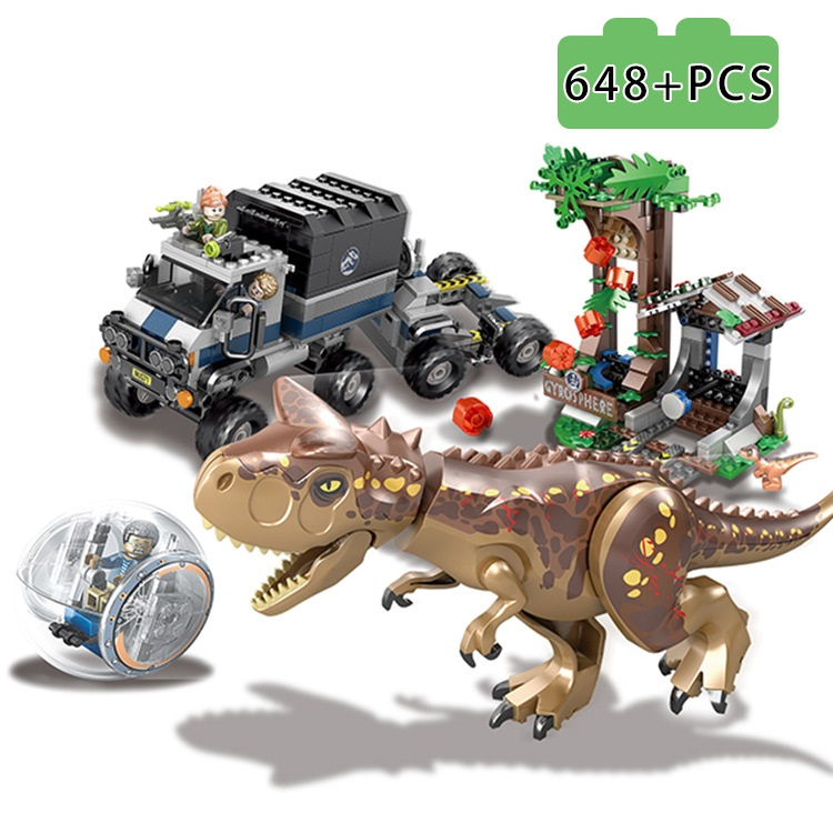 Image 4 - Violent Brutal Dinosaur Indominus Rex Breako Jurassic Dinosaur World 826pcs Legoinglys Building Block Toys Gift For Children-in Blocks from Toys & Hobbies