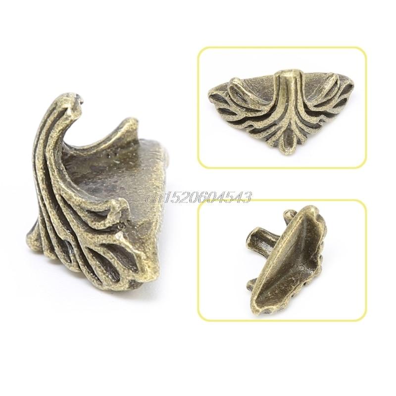 30 Pcs Decorative Jewelry Gift Box Wood Case Feet Leg Corner Protector19mm x11mm R11 Drop ship