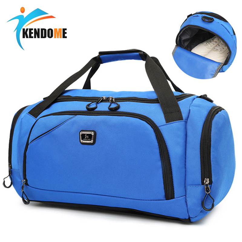 Hot Men's Outdoor Waterproof Sports Gym Bag Leisure Yoga Fitness Shoulder Bag Women Travel Handbag Training Portable Duffle Bag gym bag women s bag tide shoulder yoga bag portable sports training bag dry and wet separation waterproof swimming bag