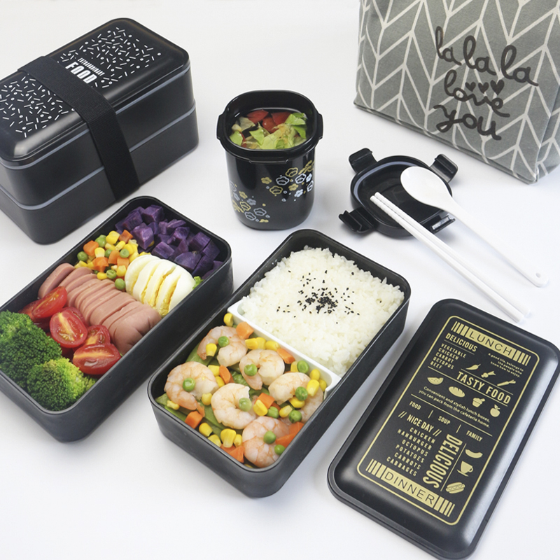 A Kitchen Is Launching An Express Lunch Service: 1200ml Nordic Portable Lunch Box Children's School PP
