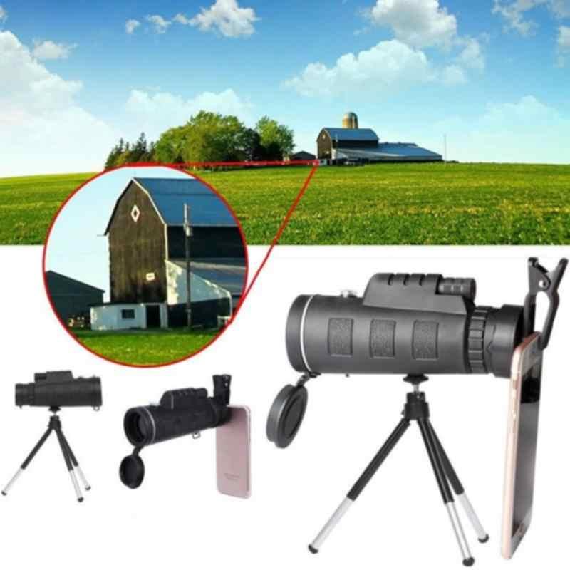 Высокая мощность 40X60 HD монокулярный телескоп мерцающий ночное видение для наружного туризма монокулярный телескоп r25
