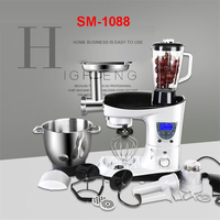 SM 1088 220 V Professional LCD Multifunction Liquid Pasta /Milk /Cake Mixer Smoothing Egg Bucket 7L Automatic Winder with Timer