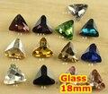 27 Cores 18mm 132 pçs/lote Triângulo de Cristal Extravagante de Pedra de Vidro Que Bling Para Fazer Jóias/vestido de Noiva