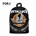 FORU Metallica-and-Justice-for-all Style Women's Canvas Backpack School Backpack For Teenager Girl Casual Travel Bag Laptop Bag