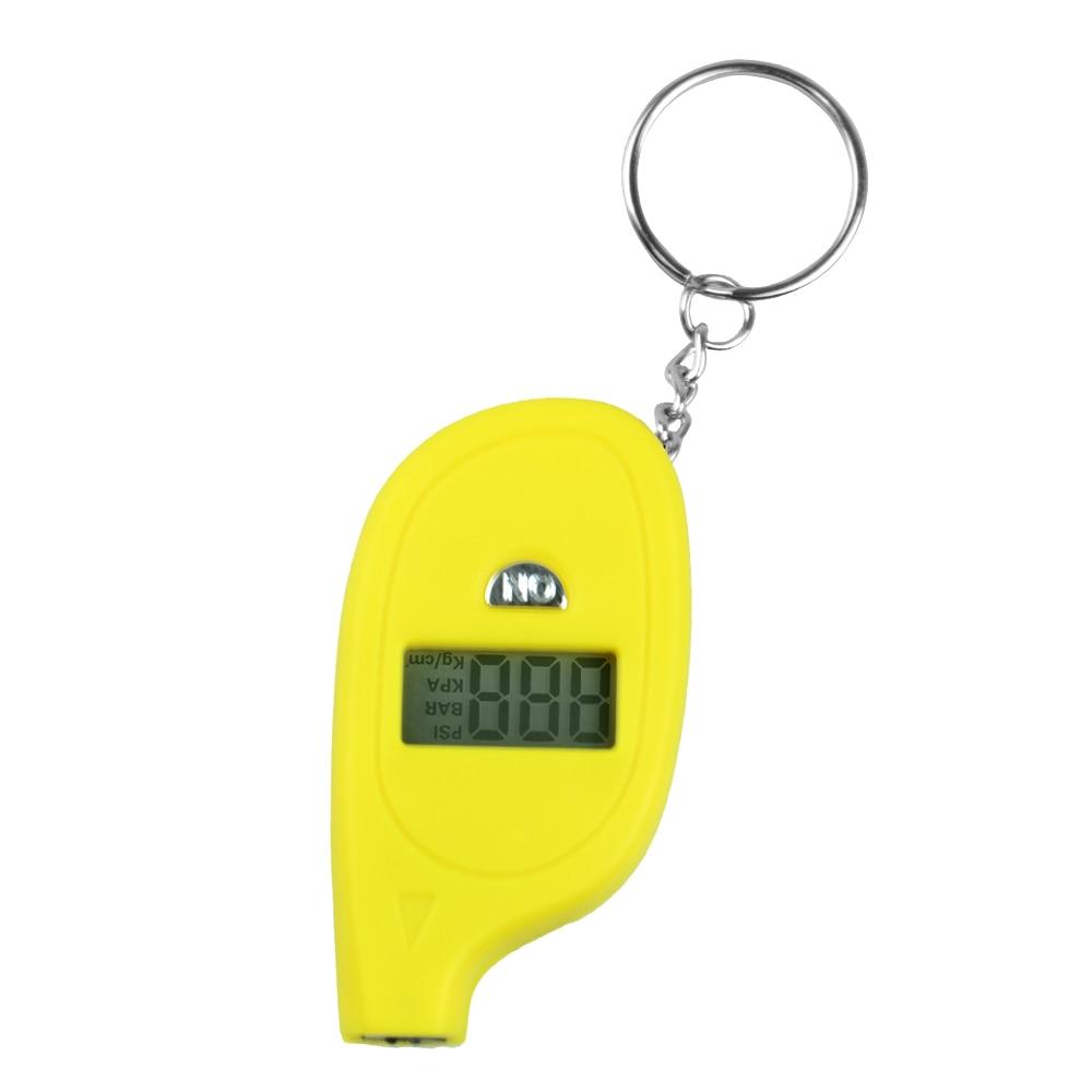 Мини ЖК-цифровой шиномонтажный брелок датчик давления воздуха для автомобиля Авто мотоцикла - Цвет: Цвет: желтый