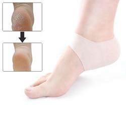 1 пара подошвенный фасциит амортизирующий силиконовый гелевый рукав дышащий защитный каблук треснутый уход за кожей ног облегчение боли ...