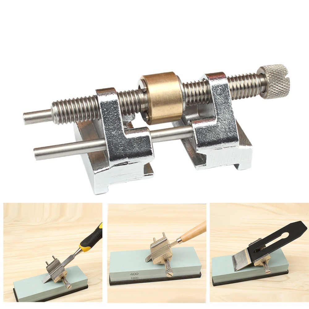 Stainless Steel Side Clamping Fixed Angle Honing Guide for Wood Chisel Planer Blade Flat Chisel Edge Sharpening #sx