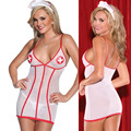 SZ293 New sexy nurse women sexy costumes sexy lingerie hot addict babydoll erotic lingerie lenceria sexy underwear