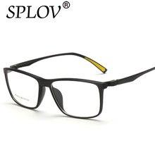 SPLOV Novos Homens e Mulheres Da Moda Óculos Espelho Luz Quadrado Quadro  Míope Óculos Eyewear Legal do Menino Da Menina Óculos d. 744e4748e9