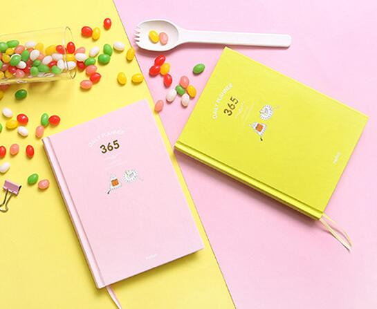 цена на Cute Colorful Sheets 365 Daily Planner Book 13*18cm Hardcover Journal Agenda Undated DIY Plan Book 224P School Office Supplies
