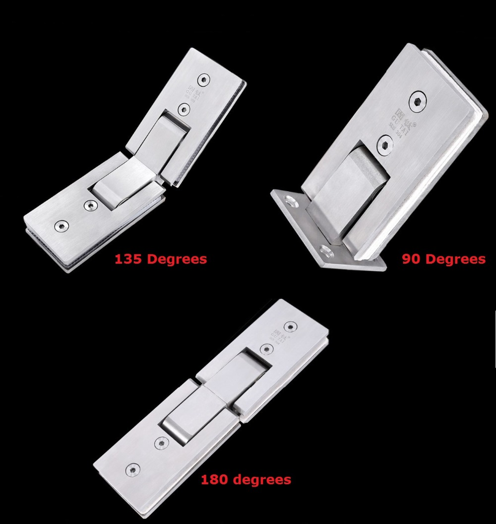 Premintehdw 304 Stainless Steel Long Shower Screen Frameless Glass Hinge Shower Box clip clamp 1 pair viborg deluxe sus304 stainless steel casting extra thick heavy duty frameless shower door clamp screen glass clamp clip