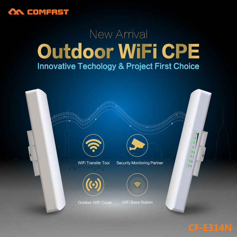 1-3KM Wireless Outdoor CPE 300Mbps Access Point AP wifi Router 500mW WIFI Bridge WIFI Repeater WIFI Extender Support IP camera 3km long range outdoor cpe wifi router 2 4g 300mbps wireless ap wifi repeater access point wifi extender bridge signal amplifer