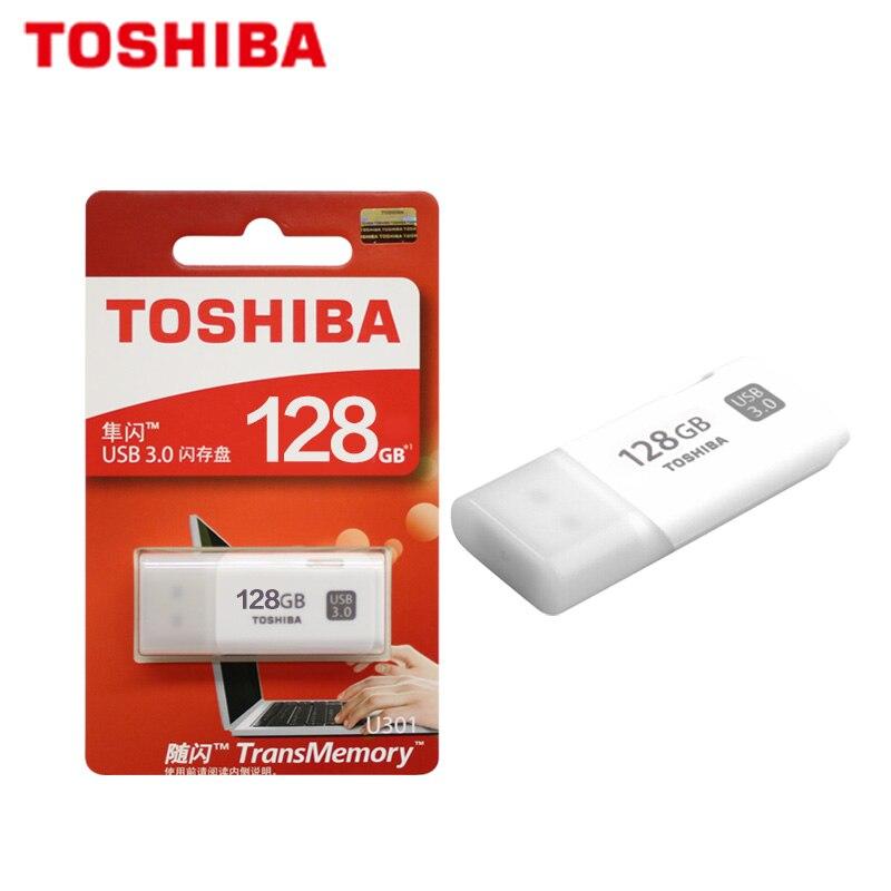 100% Original TOSHIBA U301 USB 3.0 Flash Drive 64GB 32GB Pen Drive Mini Memory Stick Pendrive U Disk White Thumb Flash Disk 4