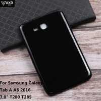 """TPU Tablet Protecter Molle Del Silicone Borsette Per Samsung Galaxy Tab Un A6 2016 7.0 """"T280 T285 SM-T280SM-T285 Posteriore Intelligente caso della copertura"""