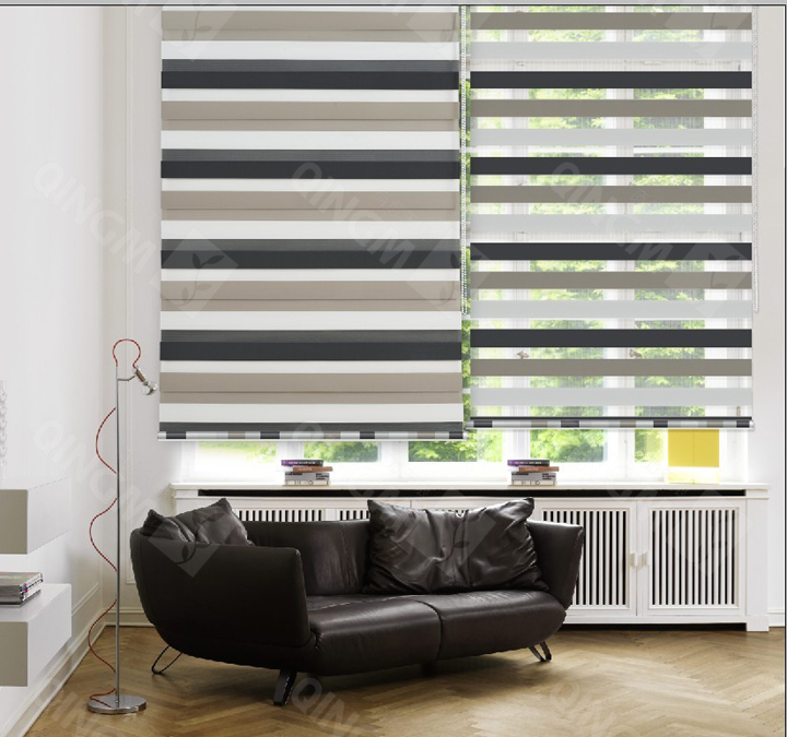 New Pattern Home Decor Zebra Blinds Double Layer Roller Curtains For Windows Venetian In Shades Shutters From Garden On