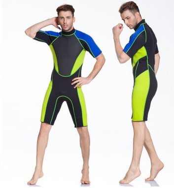 3MM Neoprene One Piece Short Sleeved Jumpsuit Short Pants Diving Suit Surf Waterproof Beach Swim Clothes Spearfishing WetSuits