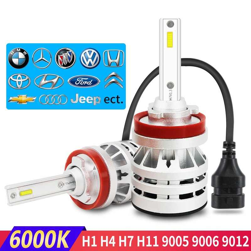 Flintzen All metal h7 led car headlight led h4 car fog lamp h1 h11 led car light bulb for toyota corolla bmw e60 Honda golf ect.