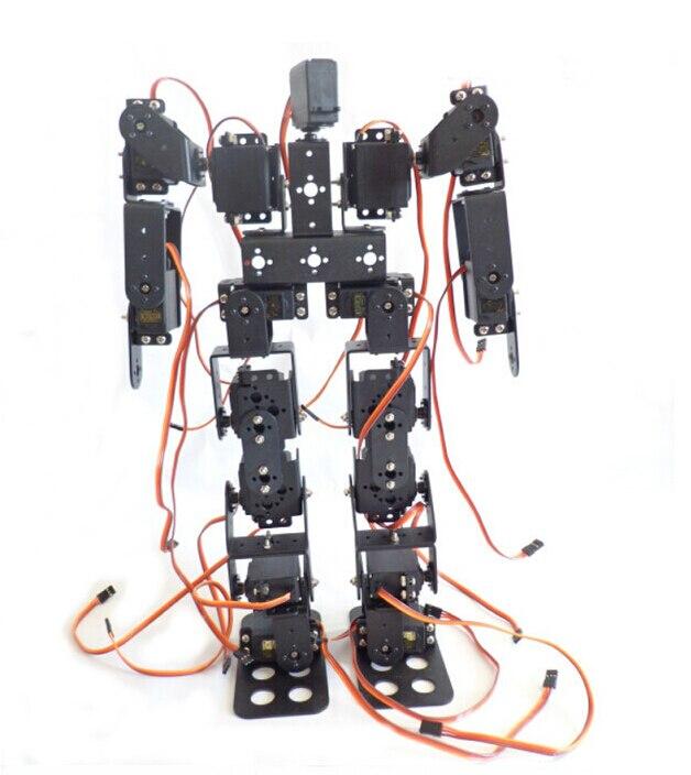 купить DIY Robot 17DOF Biped Robotic Educational Robot Humanoid Kit Servo Bracket Educational Toy F17326 по цене 3328.72 рублей
