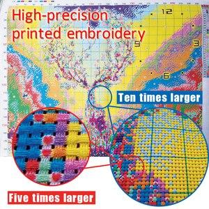 Image 4 - KAKA Cross zestaw do szycia haft robótki zestawy z nadrukowanym wzorem, 11CT na płótnie, wystrój domu do domu w ogrodzie, 5D czerwony Flamingo