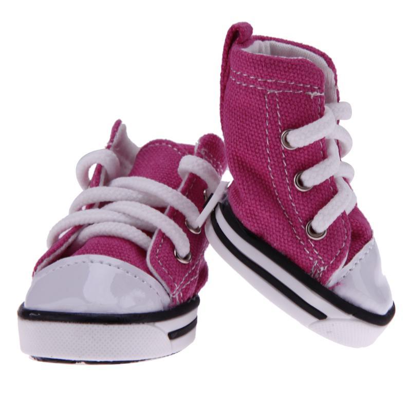 4pcs Quality Anti-slip Denim Dog Shoes