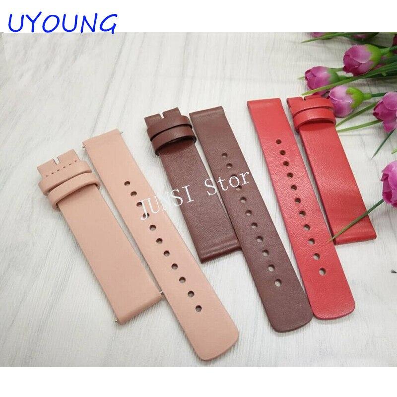 For moto 360 2nd Gen women Genuine Leather Watch band 16mm Ladies Smart Watch accessories