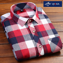 4XL 5XL 6XL 7XL 8XL Größe männer Casual Plaid Langärmeliges Hemd Slim fit Male Dress Fashion Shirt Plus