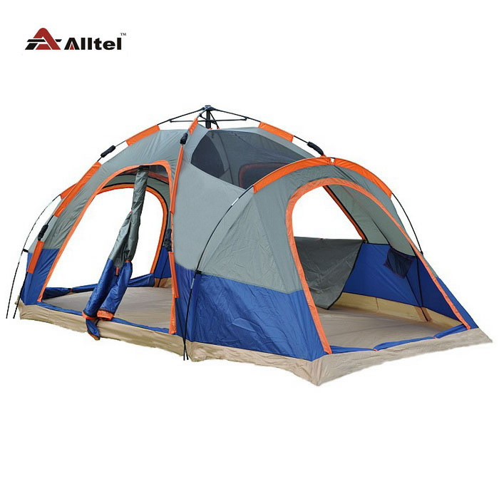 6-8 person 2 bedroom automatic speed to open 2 layer anti rain large family party beach fishing hiking outdoor camping tent new arrival fully automatic two hall 6 8 person double layer camping tent against big rain large family outdoor tent 190cm high