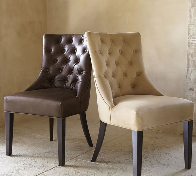 DC001 HAYES TUFTED CHAIR With Kindom Style And American Modern ANTIQUE STYLE
