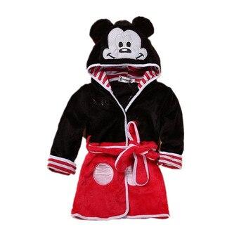 2018 Cotton Baby Boy Clothes Girl Hoodies Cartoon Bath Robes Autumn Winter Children Sleepwear Cute Flannel Pajamas Kids Clothes