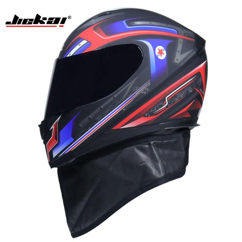 JIEKAI Men Motorcycle Helmet Women Full Face Warm Winter Motor Bike Moto Scooter Motorbike Helmets