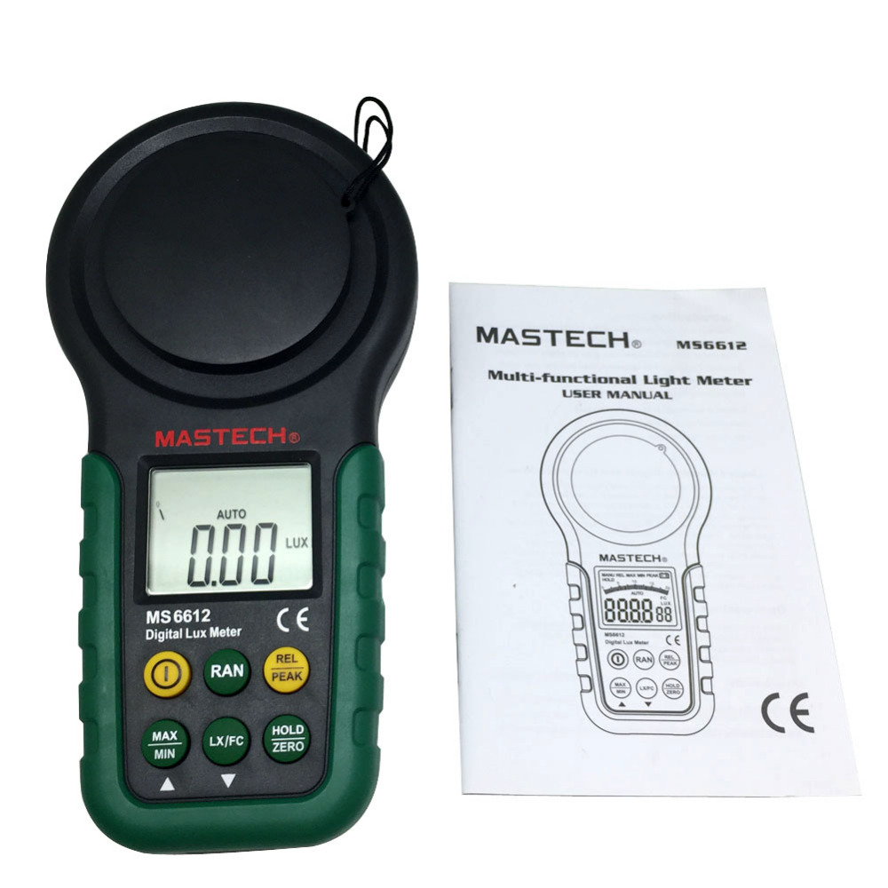 MASTECH New pro multi function Luxmeter MS6612 light meter foot candle auto range peak