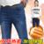 Cashmere Grossas de Inverno Quente calças de Brim Das Mulheres Calças de Cintura Alta Calça Jeans Meninas Esticar Jeans Skinny Elásticas Calças Jeans Cintura
