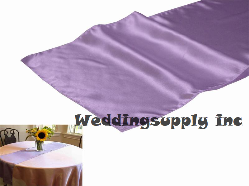 20 LAVENDER Cheap Satin Table Runner Luxury For Wedding Table Linen/Table  Decoration Free Shipping