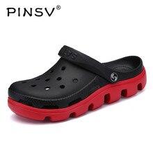 PINSV/мужские сандалии высокого качества Модные Удобные повседневные пляжные сандалии на плоской подошве для пары мужская обувь больших размеров 35-47