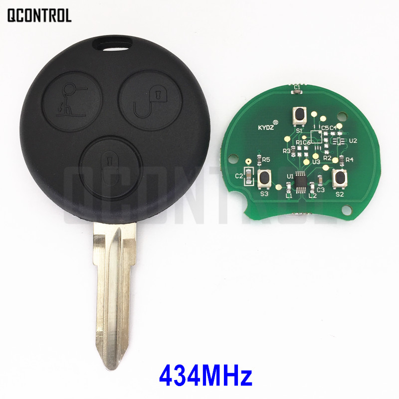 QCONTROL Remote Car Key for Mercedes Benz Smart Fortwo 1998 2006 Forfour Roadster City Coupe Crossblade
