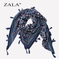 2017 Brand Cotton Tassels Design Square  Scarf Printed Fashion Warm in Spring Winter Shawl For Women  scarves shawl headband