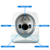 Новейшие разработки волшебное зеркало кожного анализатора 3D анализатор кожи машина цифровой кожи машина тестера